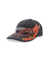 Vetements Fire Logo Baseball Cap