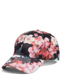 Collection XIIX Floral Print Baseball Cap Pink