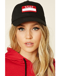 Forever 21 Hello My Handle Is Patch Cap