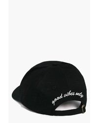 Boohoo Frances Good Vibes Only Slogan Baseball Cap