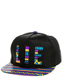 Love Is Earth The Chevron Snapback In Black