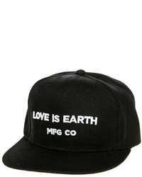 Love Is Earth The Lie Logo Snapback In Black