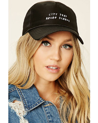 Forever 21 Satin Graphic Baseball Cap