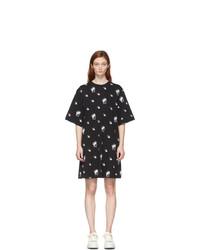 McQ Alexander McQueen Black Botan Swallow T Shirt Dress