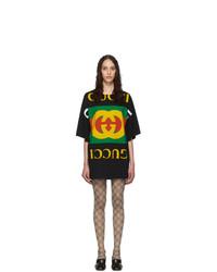 Gucci Black Oversized T Shirt Dress