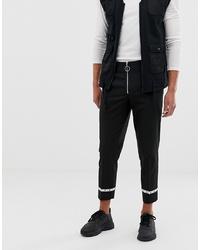 ASOS DESIGN Slim Crop Trouser In Black With