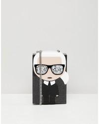 Karl Lagerfeld Iconic Karl Minaudiere Box Bag