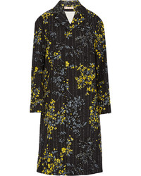 Marni Printed Cotton Wool And Silk Blend Twill Coat