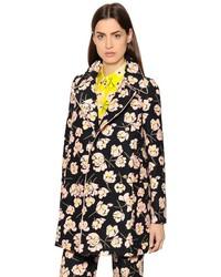 Rochas Magnolia Printed Cotton Duchesse Coat