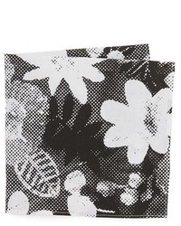 The Hill-Side Big Halftone Floral Print Pocket Square