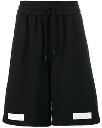 Off-White Black Diagonal Stripe Long Shorts