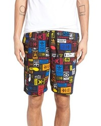 adidas Originals Retro Logo Print Drawstring Shorts