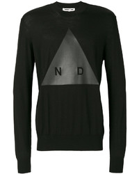 Alexander ueen graphic print knitted jumper medium 3993640