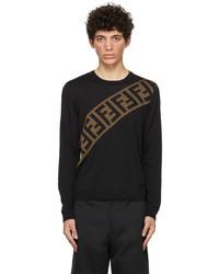 Fendi Black Diagonal Forever Sweater