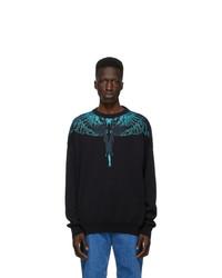 Marcelo Burlon County of Milan Black Jacquard Wings Sweater