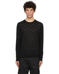 Fendi Black Wool Forever Sweater