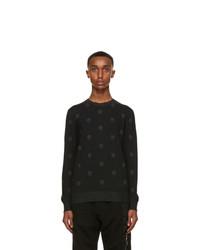 Alexander McQueen Black Wool Skull Sweater