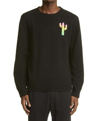 The Elder Statesman Cactus Universe Hand Painted Cashmere Sweater