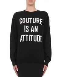 Moschino Capsule Intarsia Knit Couture Virgin Wool Sweater