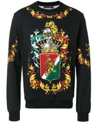 Dolce & Gabbana Coat Of Arms Printed Sweatshirt