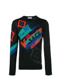 Versace Collection Crew Neck Logo Sweater