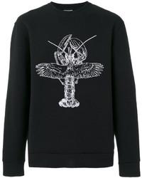 Lanvin Embroidered Technical Jersey Sweatshirt