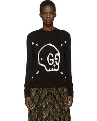 Gucci Black Ghost Knit Sweater