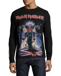 Eleven Paris Iron Maiden Long Sleeve T Shirt Black