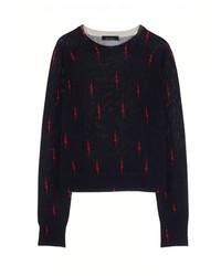 Kate Moss For Equipt Ryder Crew Neck Lightning Bolt Sweater