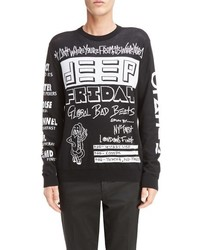 Kenzo Flyer Print Crewneck Sweater