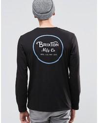 Brixton Long Sleeve T Shirt With Back Print