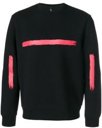 Neil Barrett Paint Stroke Print Sweatshirt