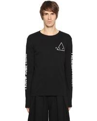 Printed jersey long sleeve t shirt medium 3733783