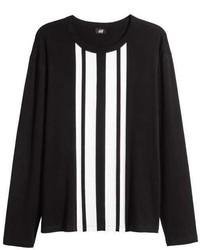 H&M Printed Long Sleeved T Shirt
