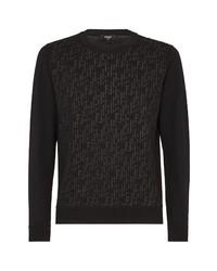 Fendi Sheer Ff Logo Wool Blend Sweater