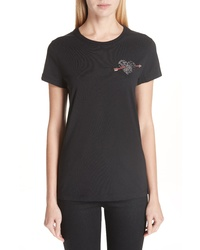 Valentino Beaded Heart Tee