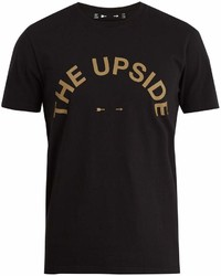 The Upside Big Logo Crew Neck Cotton T Shirt