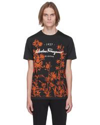 Salvatore Ferragamo Black 1927 Signature T Shirt