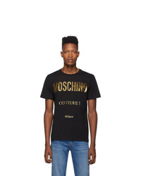 Moschino Black And Gold Couture T Shirt