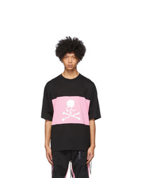 Mastermind World Black And Pink Horizontal Block T Shirt