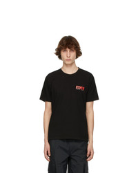 EDEN power corp Black And Red Recycled Cotton Logo T Shirt