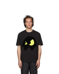 McQ Alexander McQueen Black And Yellow Chester T Shirt