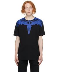 Marcelo Burlon County of Milan Black Blue Wings T Shirt