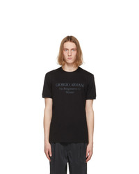 Giorgio Armani Black Borgonuovo T Shirt
