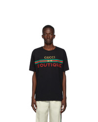Gucci Black Boutique Logo T Shirt