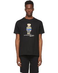 Polo Ralph Lauren Black Classic Fit Polo Bear T Shirt