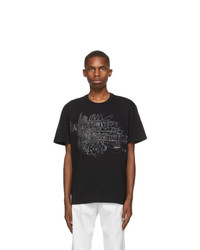 Valentino Black Colosseum Sketch T Shirt