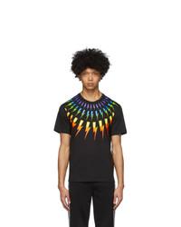 Neil Barrett Black Fair Isle Thunderbolt T Shirt