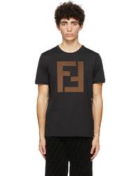 Fendi Black Ff Patch T Shirt