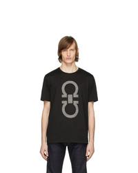 Salvatore Ferragamo Black Gancini T Shirt